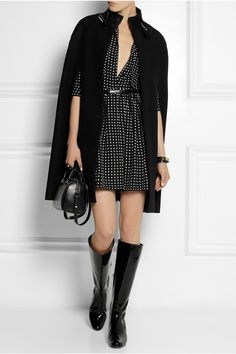 Saint Laurent | Patent-leather knee boots | NET-A-PORTER.COM