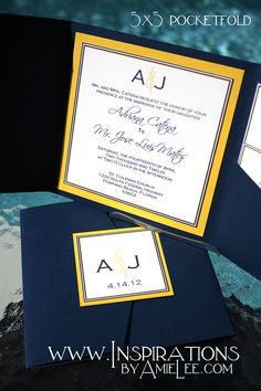 Classic wedding invitations...but not these colors and not square