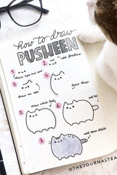 best animal bullet journal DOODLES with step by step tutorials Easy Doodles Drawings, Easy Doodle Art, Cute Easy Drawings, Simple Doodles, Cute Doodles, Bullet Journal Writing, Bullet Journal School, Bullet Journal Aesthetic, Bullet Journal Ideas Pages