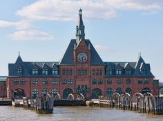 Operating from 1889 through 1967, this rail station on the Hudson River was once a major transportation center for immigrants arriving to America. The Romanesque building's station platforms, tracks (with some rail cars), and ferry piers now form a kind of sideshow to the main event of visiting the Statue of Liberty, as tourist ferries to Liberty and Ellis Islands depart from neighboring Liberty State Park. Unfortunately the station was badly damaged in the flooding that resulted from Hurricane Sandy in 2012, so the interior is no longer accessible. Jersey City #NewJersey #iGottaTravel