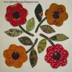 FABRIC THERAPY: More Little Blocks... ~ Applique