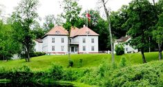 Eidsvoll Manor Norway's first national Monument in 1837 Norway In A Nutshell, Beautiful Norway, Norway Travel, Oslo, Constitution, Villas, Interior And Exterior, North America, Wanderlust