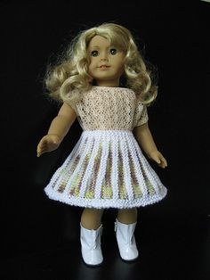 BELLE 18 American Girl AG doll SKIRT Knitting Pattern by KNITnPLAY, $1.99