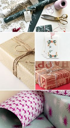 Holiday Gift Wrap Inspiration from Oh So Beautiful Paper