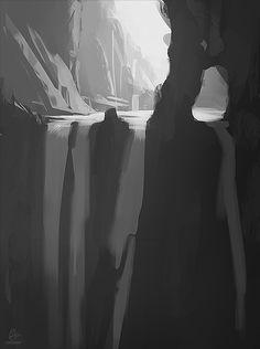 Waterfall Sketch 2 by JadrienC.deviantart.com on @deviantART