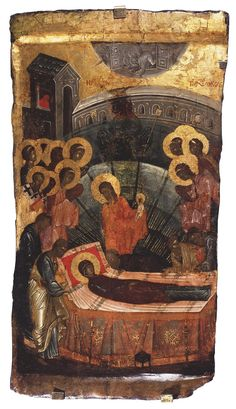 Unknown Icon: The Dormition of the Virgin Byzantium, First half of the 14th century