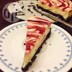 Cheesecake de chocolate branco com framboesa @ allrecipes.com.br