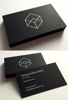 Clean And Crisp Black And White Minimalist Business Card For A Graphic Designer