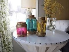 Resultado de imagen para decoracion de frascos de vidrio