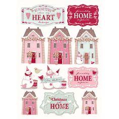 tilda paper cutouts | cut out 4 pcs xmas village £ 3 49 comment 21 decoupage papers a4 ...