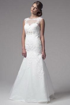 KCW1502 White Tulle Lace Mermaid Wedding Dress by Kari Chang Eternal