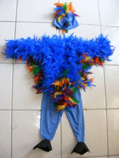 Blue Feather Bird Costume by DIPdesigns on Etsy, $75.00