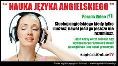 Jakie kursy warto słuchać, aby szybko zacząć rozumieć i mówić po angielsku? #angielski #naukaangielskiego #jezykangielski #naukajezykaangielskiego #angielskionlinetv