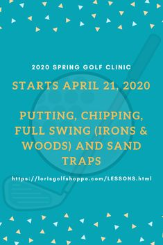 For more detailed information regarding lessons, clinics and services provided by Lori's Golf Shoppe, click the photo now before the clinic will be closed!