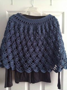 poncho crochet pattern free | found this free pattern on ravelry crochetville http www crochetville ...