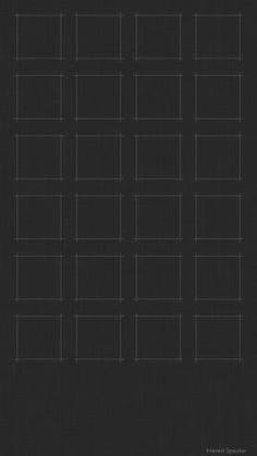 iPhone 6 用壁紙 グリッド 黒