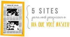Cores do Dia: Jornal do dia que você nasceu