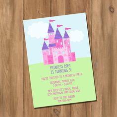 Princess Birthday Party Invitation Digital  DIY by DigiPrintz, $10.00