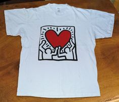 T-Shirt-Vintage-80s-Keith-Haring-Circa.usa size #fashion #clothing #shoes #accessories #mensclothing #shirts (ebay link)