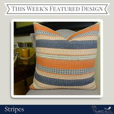 We're featuring stripes as our design collection of the week. Think that's beautiful? Check out the rest of our stripes collection: http://pillowsanddecor.com/collections/stripes