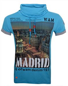 Wam Denim sjaalkraag shirt turquoise
