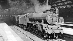 Stanier Jubilee 45670 awaits the right away at Liverpool Lime Street in the early 1960s. Photo by Ben Brooksbank.