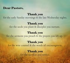 pastor appreciation words of thanks - Bing images Pastor Appreciation Quotes, Pastor Quotes, Appreciation Cards, Gifts For Pastors, Pastors Wife, Happy Birthday Pastor, Thank You Pastor, Pastor Anniversary, Anniversary Quotes