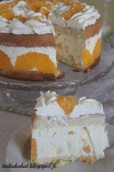 Moikka! Mulla alkoi yksi päivä tekemään hirveästi mieli raikasta appelsiinicharlottaa enkä saanut kiusausta mielestäni. Kun sitten ystäv... Gluten Free Recipes, Baking Recipes, Dessert Recipes, Desserts, Finnish Recipes, Sweet Pastries, Let Them Eat Cake, Yummy Cakes, No Bake Cake