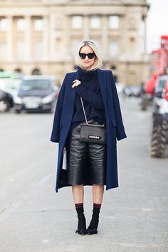 Invest in a mid-length leather skirt that's both ladylike (for the office!) and sultry (for cocktails afterward).
