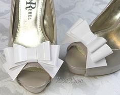Blue Shoe Bows Light Blue Bow Shoe Clips by BouquetByRosaLoren