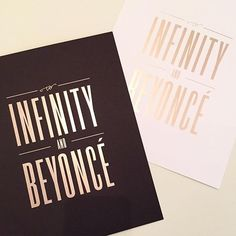 To Infinity and Beyoncé Print / Lionheart Prints via Oh So Beautiful Paper