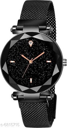 Watches HRV BLACK DIAL WITH MAGNET LOCK WATCH FOR WOMEN SINGLE DIAMOND WATCH FOR WOMEN Analog Watch Strap Material: Metal Display Type: Analogue Size: Free Size Multipack: 1 Country of Origin: India Sizes Available: Free Size   Catalog Rating: ★4 (460)  Catalog Name: Classic Women Watches CatalogID_1087798 C72-SC1087 Code: 912-6815715-534