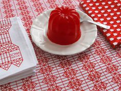 'Folklore' tablecloth by the French designer Sonia Verguet and the chef Olivier Meyer (via NotCot)