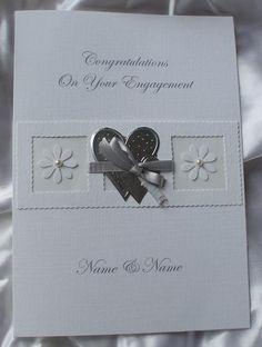 Handmade Engagement Card   Pearl Necklaces