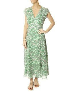 This is the 'Annabel' Leopard Print Green Maxi Dress by our friends at Primrose Park! So comfy, you'll want to wear it every. Green Maxi, White Shirts, Blue Blouse, Soft Fabrics, Wrap Dress, Summer Dresses, Park, How To Wear, Comfy
