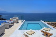 Infinity luxury villa, a wonderful sight, a view as far as the eye can see. The perfect destination for your summer holidays in crete. Double Bedroom, Double Beds, Crete Holiday, Small Refrigerator, Gas Bbq, Jacuzzi Tub, Ensuite Bathrooms, How To Level Ground, Luxury Villa