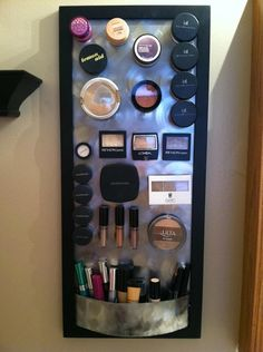 I have a cork board for jewelry but never thought of the magnets for makeup.