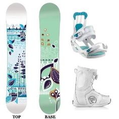 Salomon Lotus Complete Women's Snowboard with matching Salomon