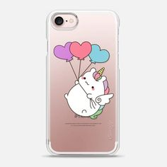 Casetify iPhone 7 Snap Case - Heart Unicorn by Mint Corner