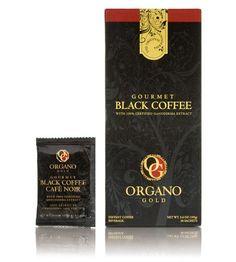 Organo Gold Gourmet Black Coffee - 3.6 0z - 30 Sachets - http://hotcoffeepods.com/organo-gold-gourmet-black-coffee-3-6-0z-30-sachets/