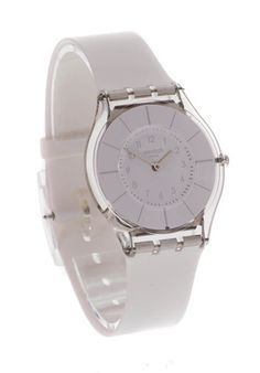 a160cc91fe9 SWATCH CLASSINESS SKINS UNISEX WHITE WATCH SFK360