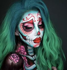 41 Most Jaw-Dropping Halloween Makeup Ideas That Are Still Pretty: Female Joke M. 41 Most Jaw-Dropping Halloween Makeup Ideas That Are Still Pretty: Female Joke Makeup - Click though Dead Makeup, Fx Makeup, Makeup Ideas, Clown Makeup, Scary Makeup, Makeup Brushes, Cute Halloween Makeup, Halloween Makeup Looks, Halloween Halloween