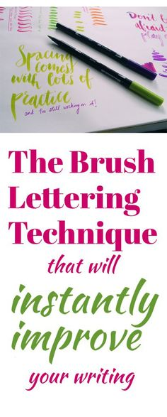 If you've tried and tried with brush lettering but can't seem to get that characteristic brush lettered look, head over to this tutorial and practice this technique. It might be just wh…