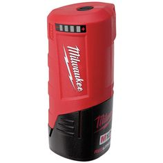 Milwaukee USB Power Source - Battery Not Included Compatible with all battery packs Battery not included On-Board fuel gauge amp powered USB port charges all portable electronic devices, Including tablets Voltage Compatible with all heated gear Milwaukee Tools, Milwaukee M12, Tool Website, Bucket Light, Gadget World, Plumbing Tools, Outdoor Tools, Electronic Devices, Diy Tools