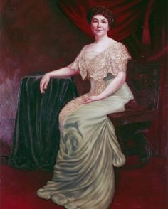 Ellen Axson Wilson, first wife of Woodrow Wilson, was First Lady of the United States from 1913 until her death. Louise Wilson, Louisa Johnson, Presidential Portraits, Us First Lady, Presidents Wives, American First Ladies, Women In History, Family History, Renaissance Fair