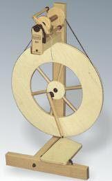 My first spinning wheel, a Louet S-51; still my favorite wheel.