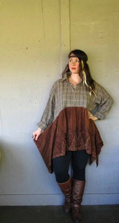 Xlarge1X2X plus Romantic upcycled clothing by lillienoradrygoods, $84.50