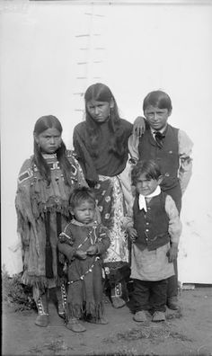 Children of Quanah Parker – Comanche – 1892