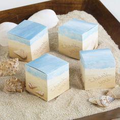 Seaside Jewels Wedding Favor Boxes | #exclusivelyweddings | #beachwedding