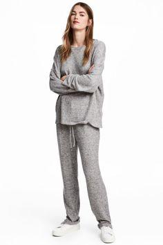 Kalhoty jogger - Světle šedá - ŽENY   H&M CZ 1